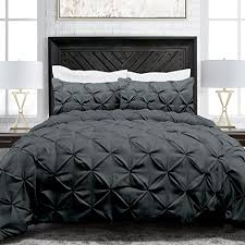 Pinched Duvet Cover Sleep Restoration Pinch Pleat 3 Piece Luxury Goose Down