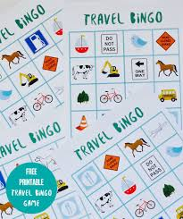 free printable travel bingo game make life lovely