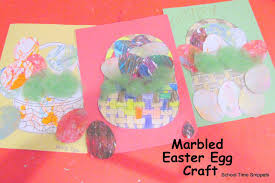 marbled easter egg craft time snippets