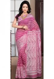 dhakai jamdani saree buy online saree blouse pink cotton dhakai jamdani saree with blouse