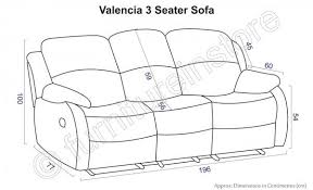 Average Sofa Dimensions by 3 Seater Sofa Size Perplexcitysentinel Com