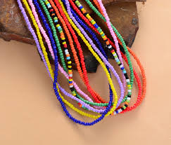 beaded seed bead necklace images Simple seed beads strand necklace women string beaded short choker jpg