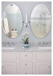 Oval Mirrors For Bathroom Sink With Oval Mirrors Traditional Bathroom Seattle For