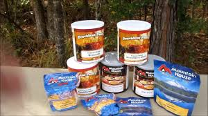 Mountain House Food Stockpiling Mountain House 10 Cans And Pouches Youtube