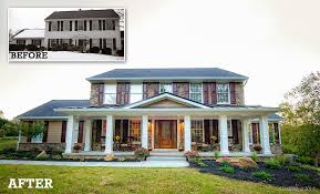 house renovation before and after before and after home exteriors howard county home exterior