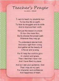 a teachers prayer pocket card some days i think i new this posted