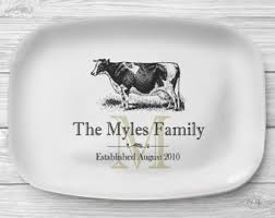 personalized serving platters cow platter etsy