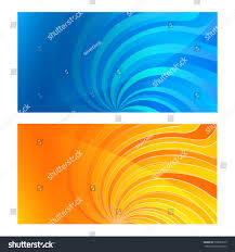 set business card blank template swirl stock illustration