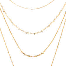 multi layer necklace images Gold multi layer necklace claire 39 s jpg