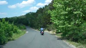 hill country motorcycle ride cow creek road
