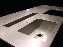 stainless steel countertop with built in sink stainless steel countertop with sink used sinks integrated