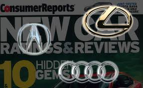 lexus card lexus acura and audi top 2014 consumer reports brand report card