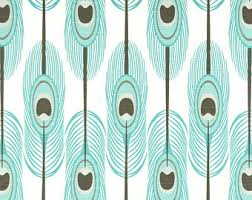 peacock curtain etsy