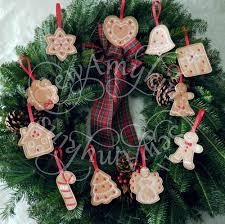 gingerbread cookie ornament felt machine