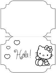 printable hello kitty card template u2014 printable treats com