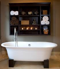 chic bathroom wall shelving ideas for cleaner bathroom interior