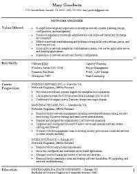 network engineer resume network engineer resume exle key skills and career progression
