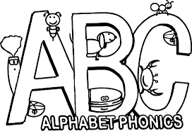 the alphabet song in phonics coloring page wecoloringpage