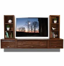Floating Shelves Entertainment Center by Wall Mounted Floating Tv Entertainment Stand Eco Geo Mocha