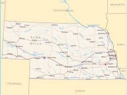 World Map Pdf by Nebraska Map Blank Political Nebraska Map With Cities