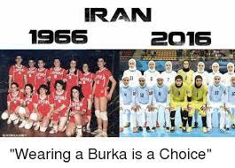 Burka Meme - iran 1955 po16 sporx satiriangt wearing a burka is a choice meme