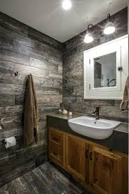 artistic wooden bathroom cabinets with white pedestal sink
