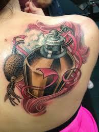 large perfume bottle back tattoo tattoomagz