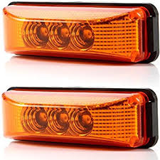 Amazon Com 2pcs 3 9 3 Leds Truck Trailer 12v Led Front Rear Led