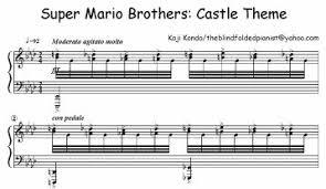 sheet music super mario boing boing