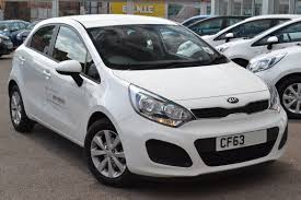 used car kia rio vr7 clear white cf63mro mzx wessex