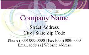 windows business card templates microsoft office business card