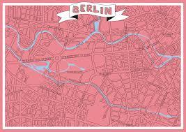 Berlin Map Berlin Map Kvc Kathrin Vinko Creative