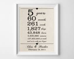 fifth anniversary gift 5th anniversary gift etsy