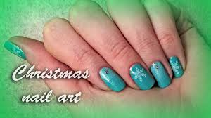 stamping christmas nail art holiday snowflake design for short