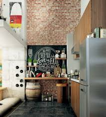 wall for kitchen ideas 28 exposed brick wall kitchen design ideas home tweaks