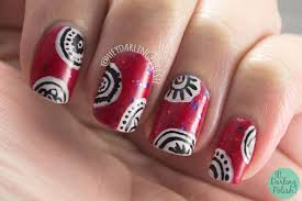 nail art design on red base u2013 great photo blog about manicure 2017