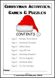 free christmas activities for students u2013 fun for christmas