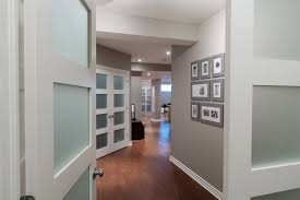 painted interior doors basement contemporary with hallway french