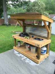how to build an outdoor kitchen with cinder blocks small outdoor