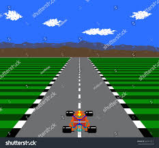 pixel race car 8bit pixel retro race game stock vector 503411212 shutterstock