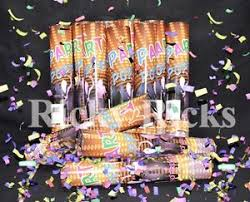 new years party poppers 12 party poppers confetti wedding shooter cannon streamer new