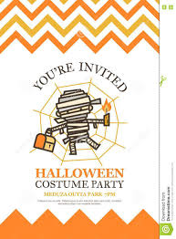 cute happy halloween logo halloween invitation card for costume night party cute kid stock