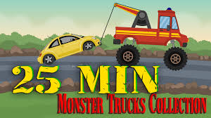 monster truck cartoon videos jcb video for children jcb monster trucks for children