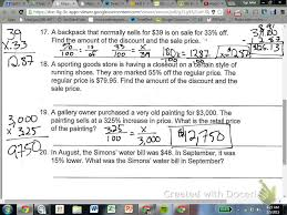 6 4 percent change word problems 7th grade youtube