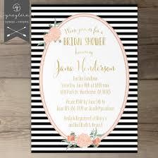 polka dot wedding invitations black white gold bridal shower invitations stripes and