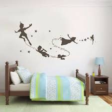 peter pan wall decal roselawnlutheran tinkerbell peter pan wall decal removable kid second star quote vinyl poom decor 22inx58in china