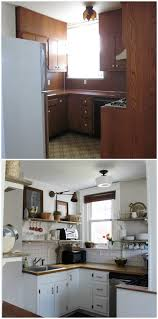 Small Kitchen Makeovers On A Budget - our kitchen before u0026 after small spaces budgeting and kitchens