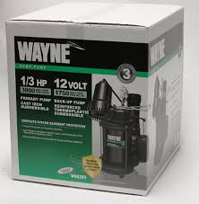Basement Pump Up System by Wayne Wss20v Pre Assembled 120 V 12v 1 3 Hp Primary And Battery