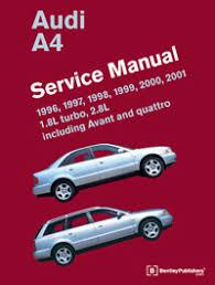 audi audi repair manual a4 1996 2001 bentley publishers