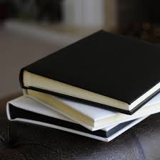 black leather photo album a4 bright white leather albums